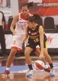 Woman basketball Stock Photography