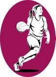 Woman basketball player Stock Photo