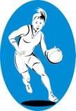 Woman basketball player Stock Image