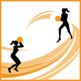 Woman basketball vector Royalty Free Stock Image