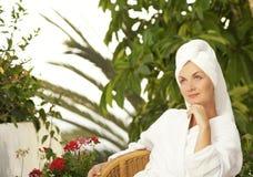 Woman after bath Royalty Free Stock Photos