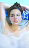 Woman in bath Stock Photos