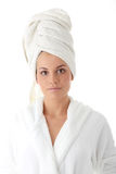 Woman after bath Royalty Free Stock Images