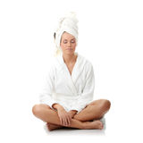 Woman after bath Stock Image