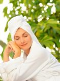 Woman after bath Stock Images