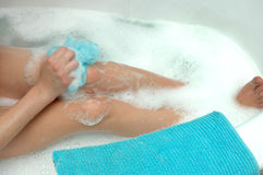 Woman bath Royalty Free Stock Images