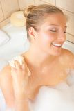Woman in bath Royalty Free Stock Image