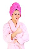 Woman after bath Stock Photography