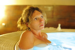 Woman in bath Stock Photography