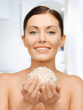 Woman with bath ball Royalty Free Stock Photo
