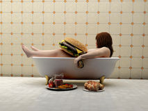 Woman in the bath. Stock Images