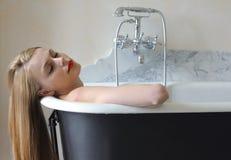 Woman bathing Royalty Free Stock Photo