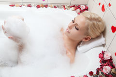Woman bathing Royalty Free Stock Photo