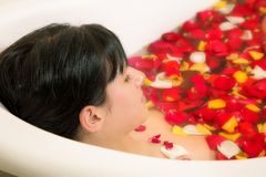 Woman bathing Royalty Free Stock Photography