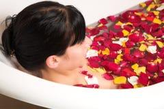 Woman bathing Royalty Free Stock Image