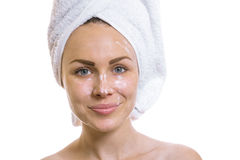 Woman after bathing Stock Photography