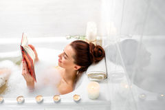 Woman bathing Stock Photography
