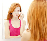 Woman in bathroom. Stock Photography