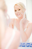 Woman In Bathroom Royalty Free Stock Images