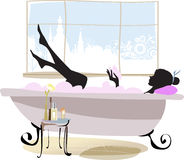 Woman in bathtub. Stock Images