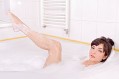 Woman in the bathtub Royalty Free Stock Photography
