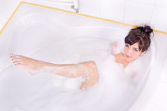 Woman in the bathtub Royalty Free Stock Images