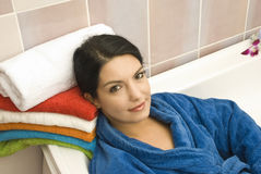Woman in bathtub Royalty Free Stock Photo