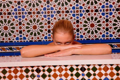 Woman in the bathtube Royalty Free Stock Image