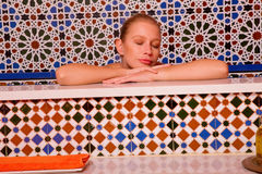 Woman in the bathtube Stock Photo