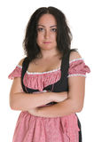 The woman in Bavarian dress Stock Images
