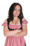 The woman in Bavarian dress Royalty Free Stock Photos