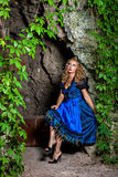 Woman in bavarian tracht Stock Images