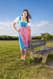 Woman in bavarian traditional dirndl Royalty Free Stock Photography