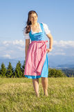 Woman in bavarian traditional dirndl Stock Photos