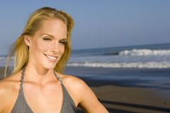 Woman at the beach Stock Image