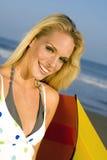 Woman at the beach Royalty Free Stock Photos