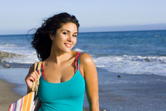 Woman beach Royalty Free Stock Photo