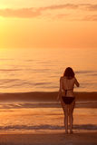 Woman by beach Royalty Free Stock Photography