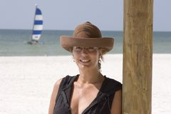 Woman on the Beach. Portrait of a Woman on the Beach Royalty Free Stock Images