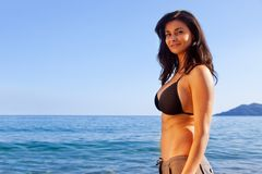 Woman at Beach Royalty Free Stock Images