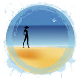 Woman on the beach. Woman on the summer beach Royalty Free Stock Photo