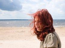 Woman on the beach. Sad woman on the beach Royalty Free Stock Photos