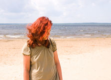 Woman on a beach Stock Photo