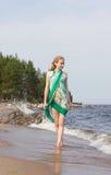 Woman on the Beach Stock Photo