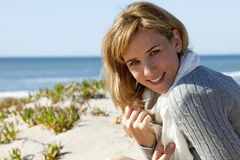 Woman beach Stock Photos