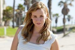 Woman beach Stock Photos