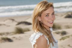 Woman beach Royalty Free Stock Images