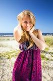 Woman  on a beach. Stock Photo