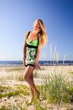 Woman  on a beach. Stock Photography