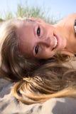Woman  on a beach. Royalty Free Stock Photos